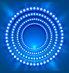 Show light podium blue background vector