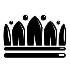 Snow crown icon simple black style vector