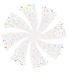 Sqrt fireworks swirl flower vector