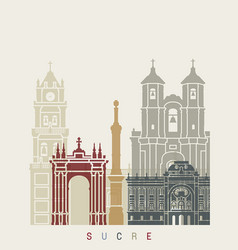 Sucre skyline poster vector