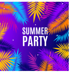 summer party concept banner poster card vector image