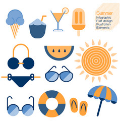 summertime infographic element vector image