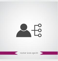 Teamwork icon simple vector