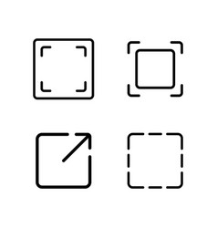 Thin line crop resize frame icon vector