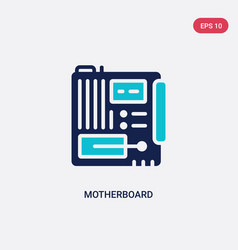 Two color motherboard icon from electronic vector