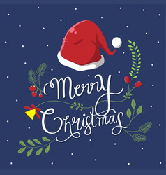 typography christmas vector image
