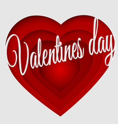 valentines day 3d abstract paper cut vector image