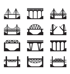 Various types of bridges vector image