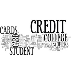 what credit card offers are best for a college vector image