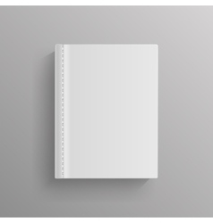 White blank book cover template vector image