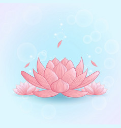 yoga lotus pink vector image