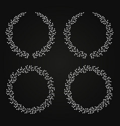 black wreath set with leaves vector image
