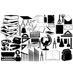 different school objects vector image