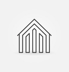 house linear icon vector image