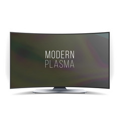 screen lcd plasma curved tv modern blank vector image
