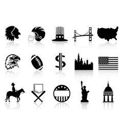 American symbol icons vector image