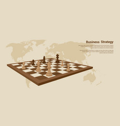 Business strategy banner vector