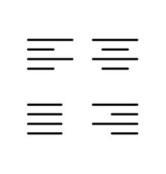 thin line alignment set icons vector image