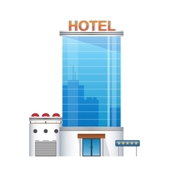 five-star hotel building 3d icon vector image