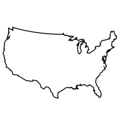 isolated american map vector image