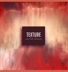 red watercolor texture background in grunge style vector image vector image