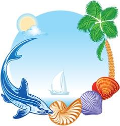 Sea Summer Travel Concept vector image vector image