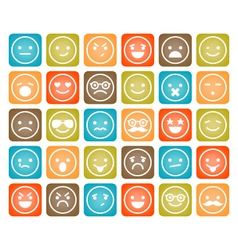 set of color smiley icons isolated vector image vector image