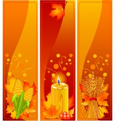 vertical harvest banners vector image vector image