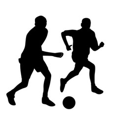 young men playing soccer vector image