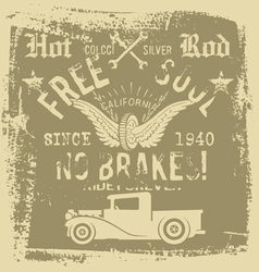 free soul hot rod vector image vector image