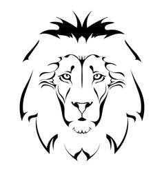 Lion head Tattoo vector image