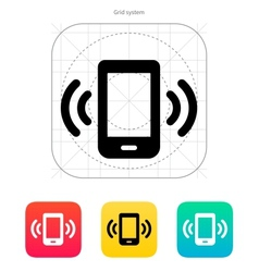 Mobile phone bell icon vector image vector image