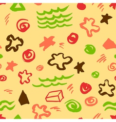 Seamless pattern with artistic geometric elements vector
