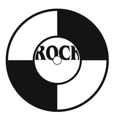 vinyl icon simple style vector image vector image