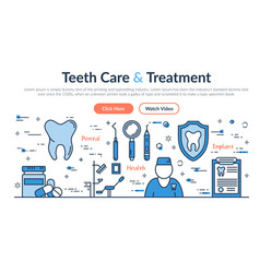 web site header - teeth care and treatment vector image vector image