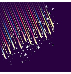 Abstract fireworks background vector image