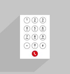 Abstract flat user interface keypad vector