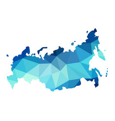 Abstract russia map consists of polygon vector