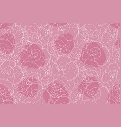 abstract seamless pink pattern with floral motifs vector image