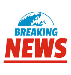 Announcement of breaking news icon flat style vector