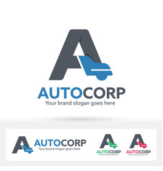 automobile letter a logo vector image