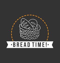 Bakery bread time dark background vector