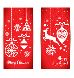 banner for christmas vector image