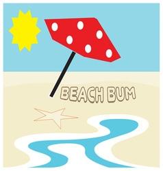 Beach Bum vector