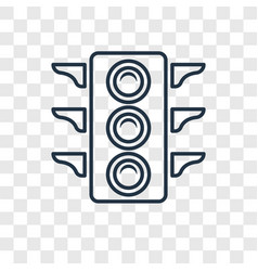 Big traffic light concept linear icon isolated on vector