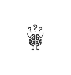 black brain character with hands legs and vector image