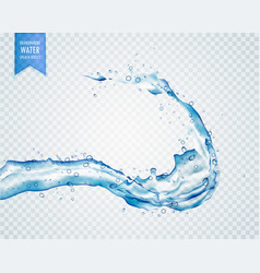 blue water liquid splash on transparent background vector image