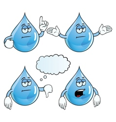 Bored water drop set vector image