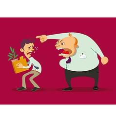 Boss dismisses employee vector