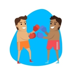 Boxing Sport Template Summer Games Banner vector image